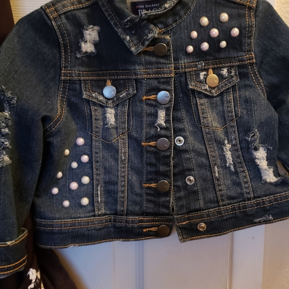 The Children's Place Other - Toddlers distressed jean jack with pearls